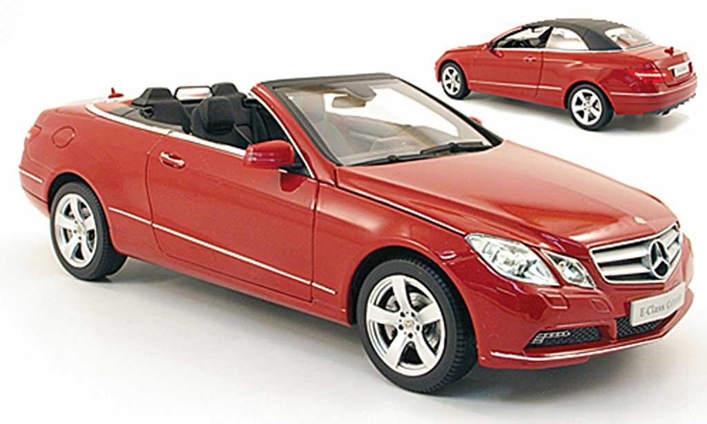 Mercedes Classe E 1/18 Norev cabriolet (a207) rouge 2010 miniature