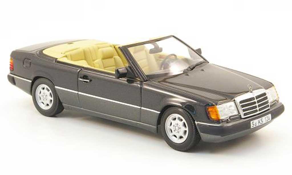 Mercedes 300 CE 1/43 Minichamps Cabriolet (A124) bleu/grise miniature