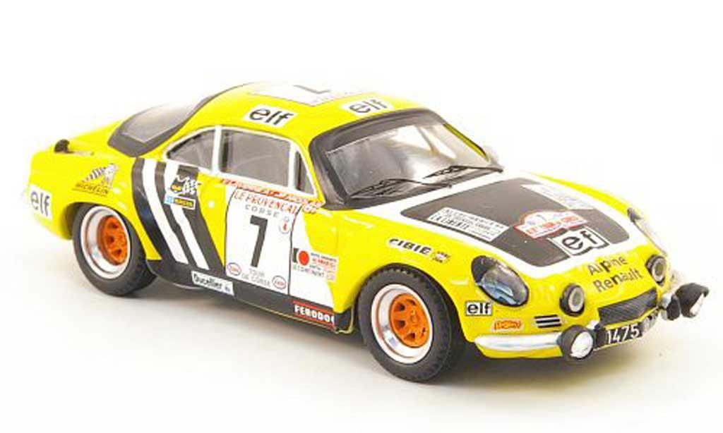 Alpine A110 1/43 Trofeu No.7 Nicolas/Laverne Tour de Corse 1975 diecast model cars