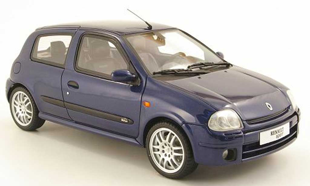 Renault Clio 2 RS 1/18 Ottomobile phase 1 bleu miniature