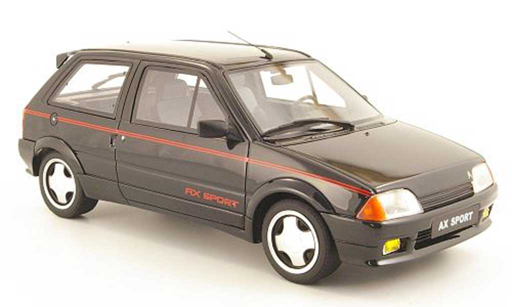 Citroen AX 1/18 Ottomobile sport noire miniature