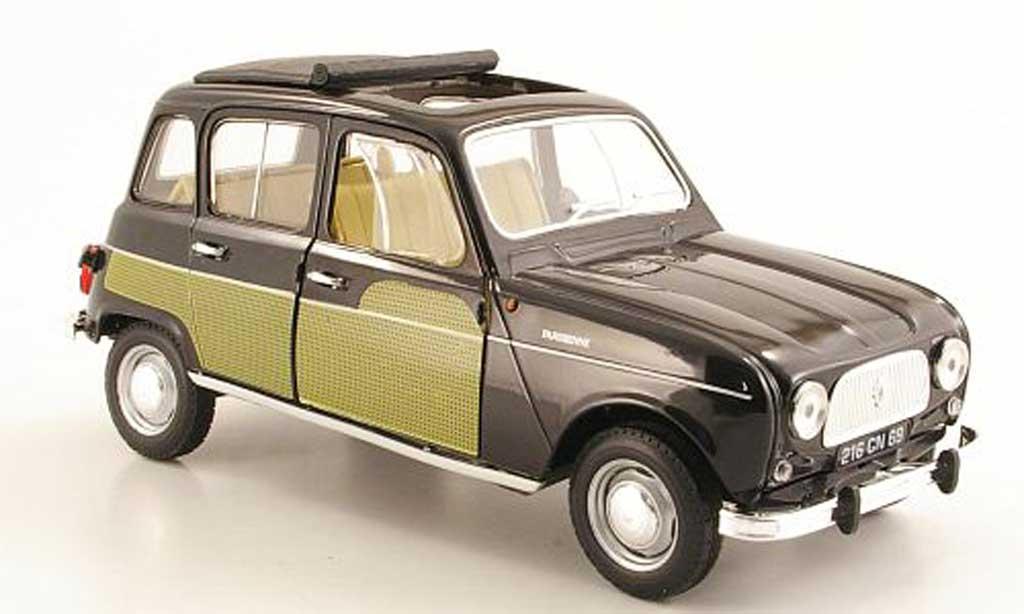 Renault 4 Parisienne 1/18 Norev black/yellow 1963 diecast model cars
