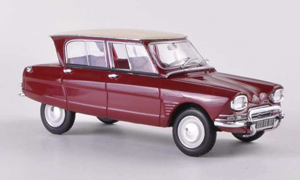 Citroen Ami 6 1/43 Norev red/white 1961 diecast model cars
