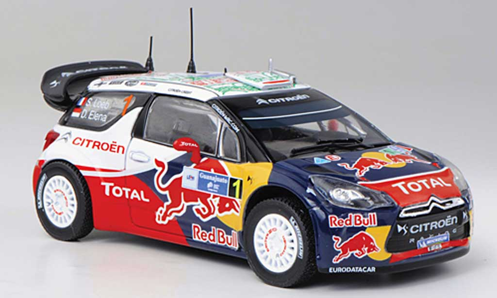 DS Automobiles DS3 WRC 2011 1/43 Norev WRC 2011 No.1 Red Bull - Total S.Loeb / D.Elena Rally Mexiko miniature