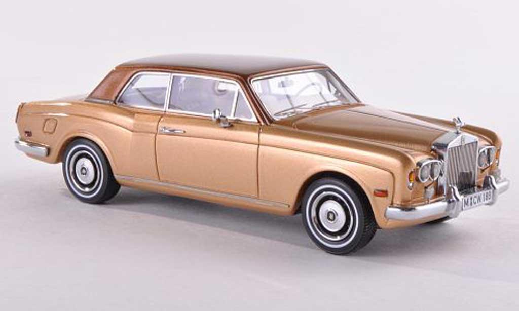 Rolls Royce Corniche 1/43 Neo FHC dore/brun LHD limitee edition 300 piece  1971 diecast