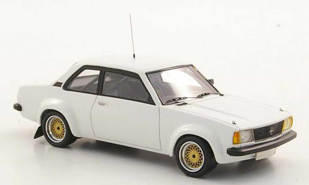 Opel Ascona B 1/43 Neo i2000 2.0/SR blanche limited edition 1979 miniature