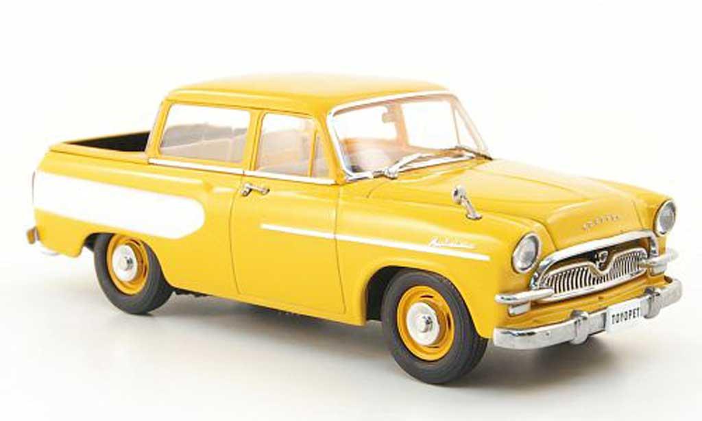 Toyopet Masterline 1/43 Ebbro Double Pick Up jaune/blanche 1959 miniature