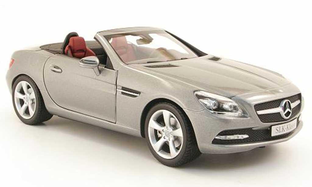 Mercedes Classe SLK 1/18 Minichamps (r172)  2011 grise miniature