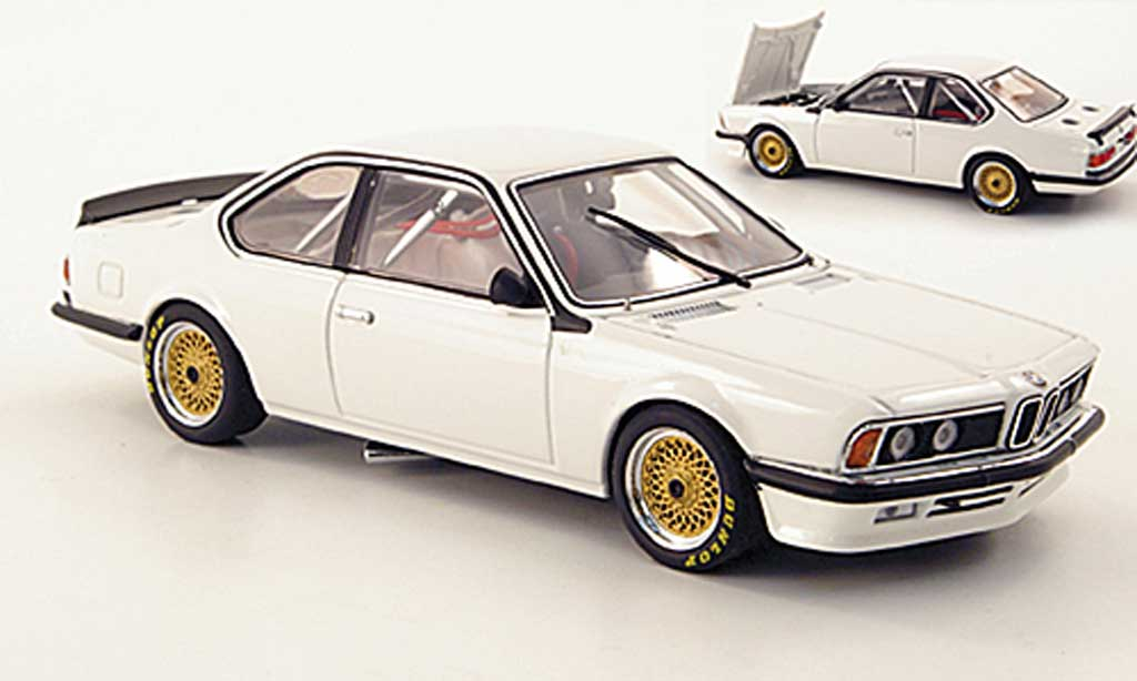 Bmw 635 CSI 1/43 Autoart Plain Body Version white diecast