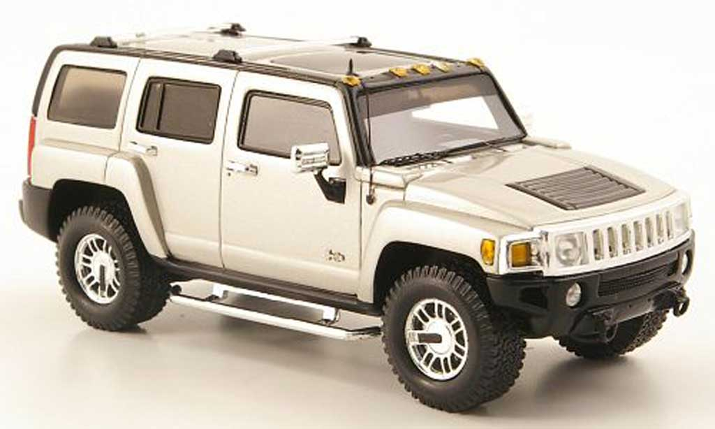 Hummer H3 1/43 Luxury Collectibles grey 2006 diecast model cars