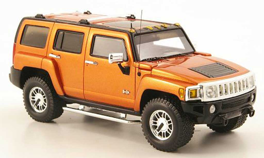 Hummer H3 1/43 Luxury Collectibles orange 2006 diecast model cars