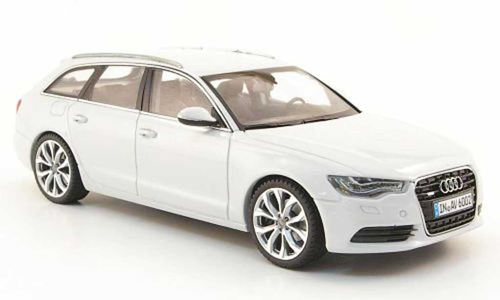 Audi A6 Avant 1/43 Schuco Avant (C7) grise blanche 2011 miniature