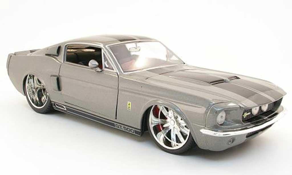 Shelby GT 500 1/18 Jada Toys Toys noire bandes 1967 miniature