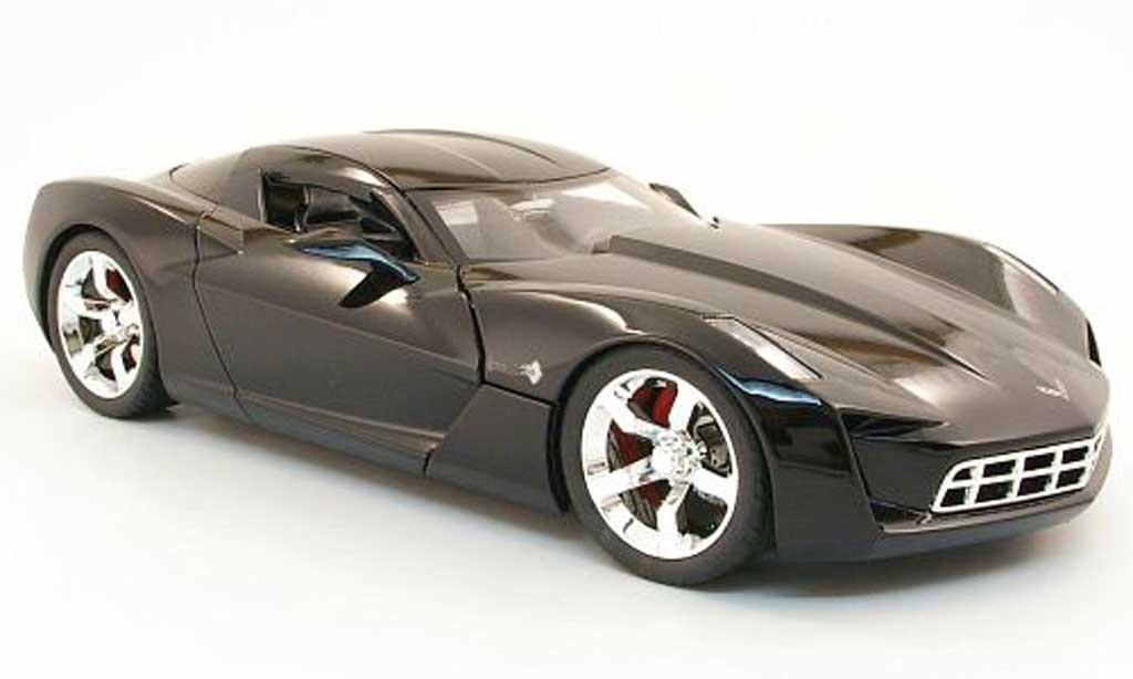 Chevrolet Corvette C6 1/18 Jada Toys Stingray 2009 concept noire miniature
