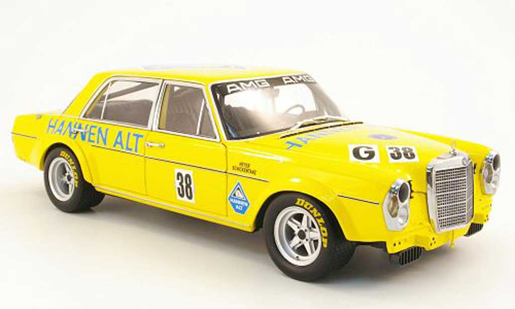 Mercedes 300 SEL 1/18 Minichamps 6.8 amg no.38 hannen alt hockenheim 1971 heyer/schickentanz