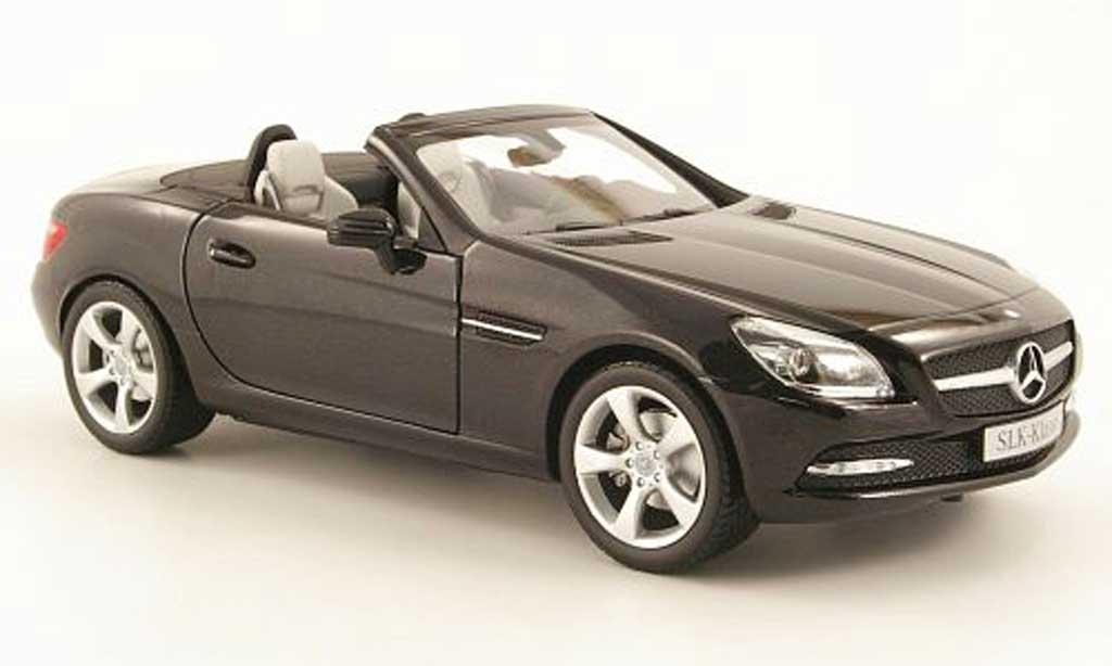 Mercedes Classe SLK 1/18 Minichamps (r172) noire 2011 miniature