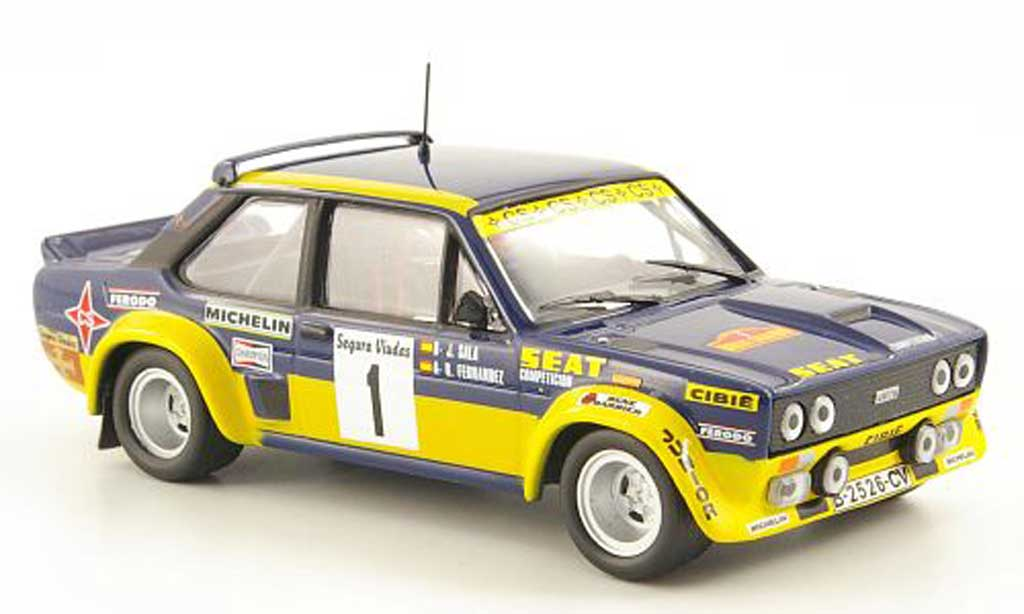 Fiat 131 Abarth 1/43 Hachette No.1 Seat Rally Catalunya 1979 diecast model cars