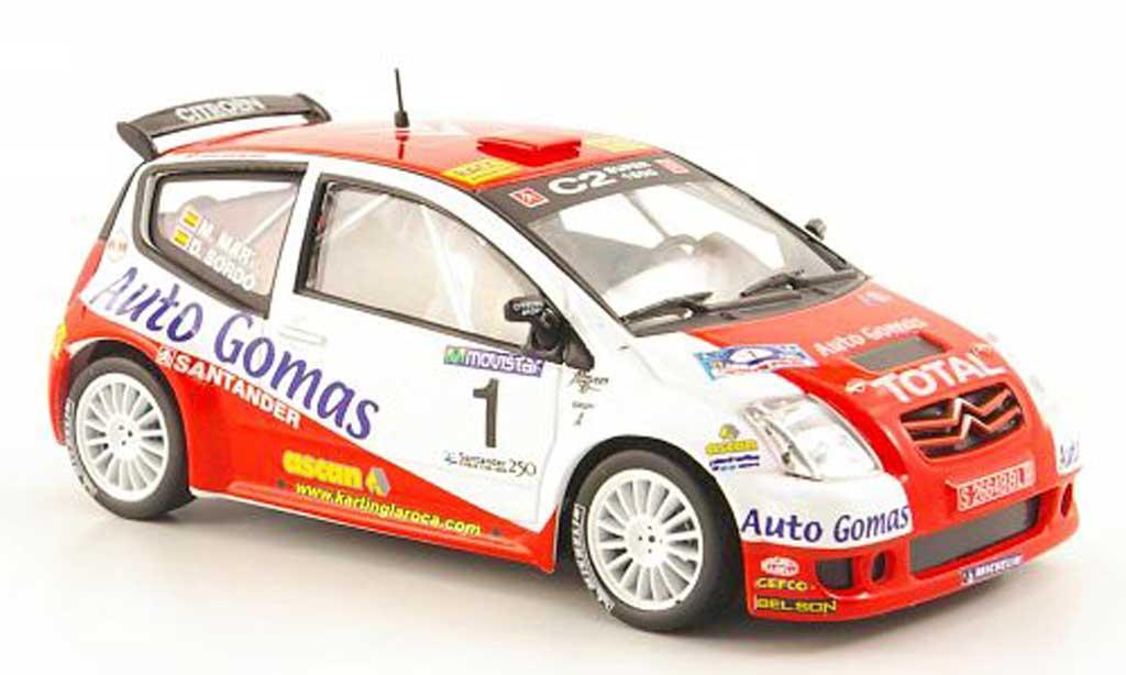 Citroen C2 S1600 1/43 Hachette No.1 Auto Gomas Rally Cantabria Infinita 2005 miniatura