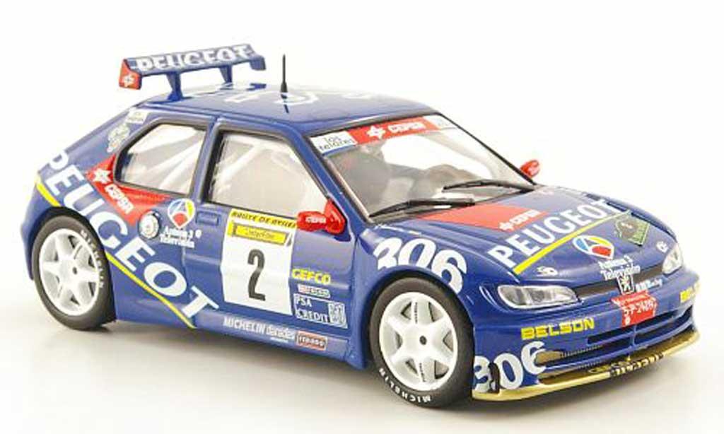 Peugeot 306 Maxi 1/43 Hachette No.2 Rally de Aviles 1997 miniature