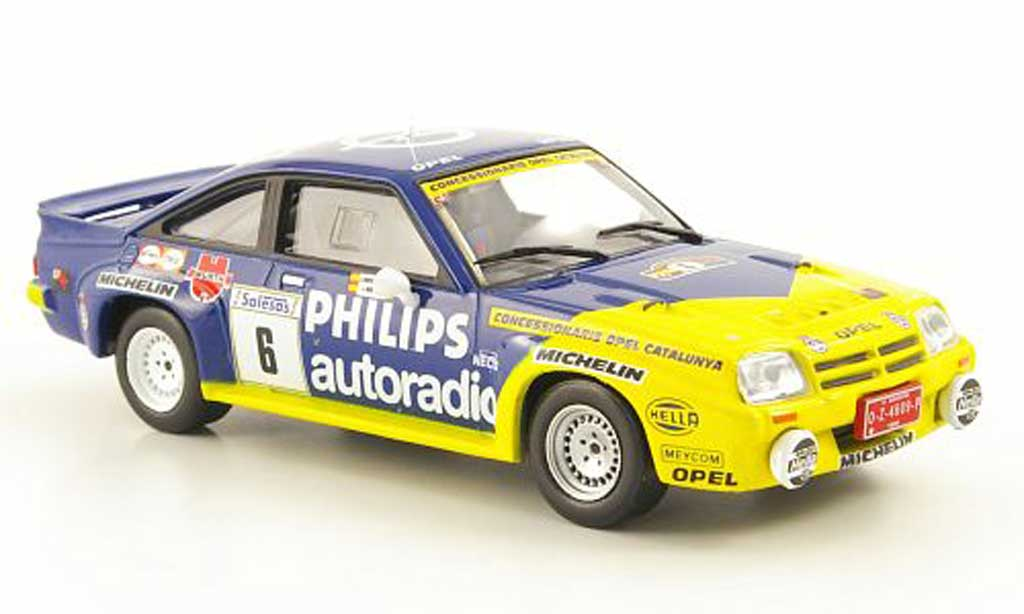 Opel Manta B 1/43 Hachette 400 No.6 Philips Rally Ville de Llanes 1986 miniature