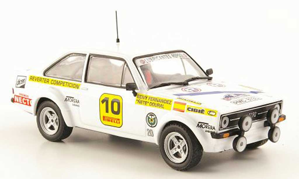 Ford Escort RS 1800 1/43 Hachette No.10 Rally Costa Brava 1977 miniature