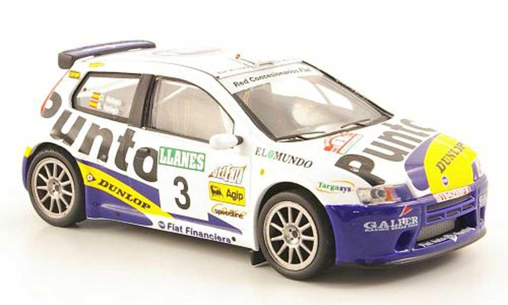 Fiat Punto 1/43 Hachette S 1No.3 Rally Villa de Llanes 2002 miniature