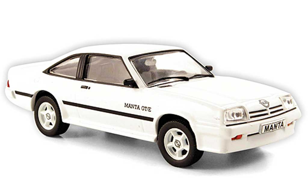 Opel Manta B 1/43 Hachette GT/E blanche (ohne Magazin) 1977