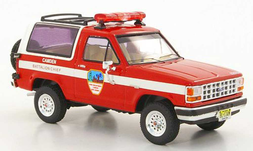 Ford Bronco 1/43 Premium X II Fire Department Camden New Jersey pompier 1990 miniature