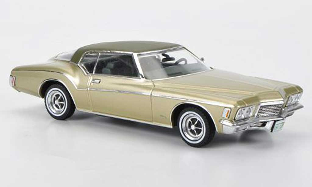 Buick Riviera 1971 1/43 Premium X Coupe beige/mattgrun miniature