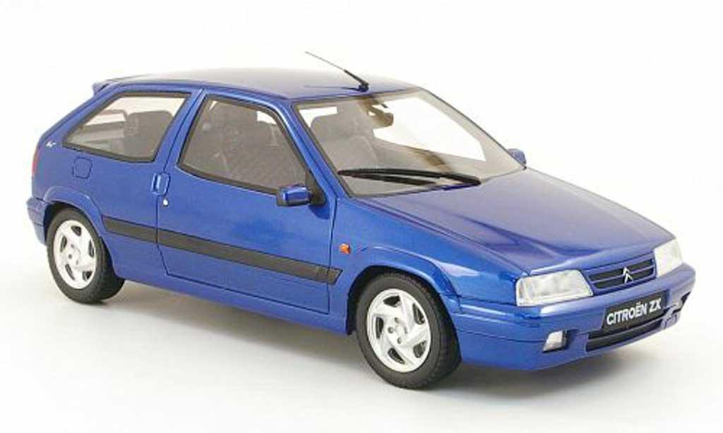 Citroen ZX 1/18 Ottomobile 16v bleu miniature