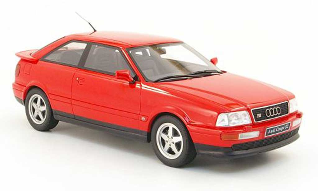 Audi S2 1/18 Ottomobile coupe rosso modellino in miniatura