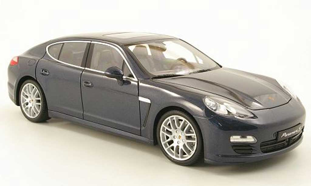 Porsche Panamera S 1/18 Welly s bleugrey diecast model cars