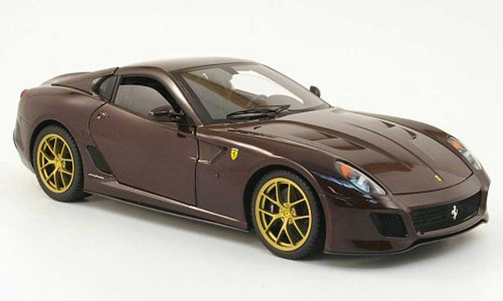 Ferrari 599 GTO 1/18 Hot Wheels Elite rouge owned by michael mann miniature