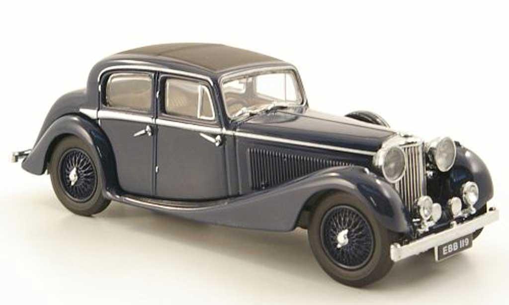 Jaguar SS 1/43 Oxford 2.5 litre bleu diecast