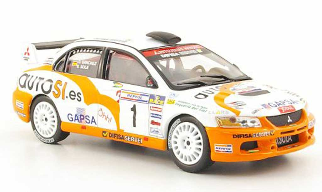 Mitsubishi Lancer Evolution IX 1/43 Hachette No.1 Rally de Tierra de Cabanas 2007 miniature