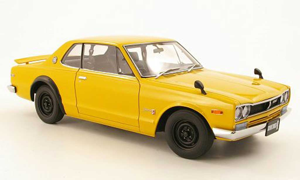 Nissan Skyline 2000 1/18 Autoart GTR (KPGC10) gelb RHD 1969 modellautos