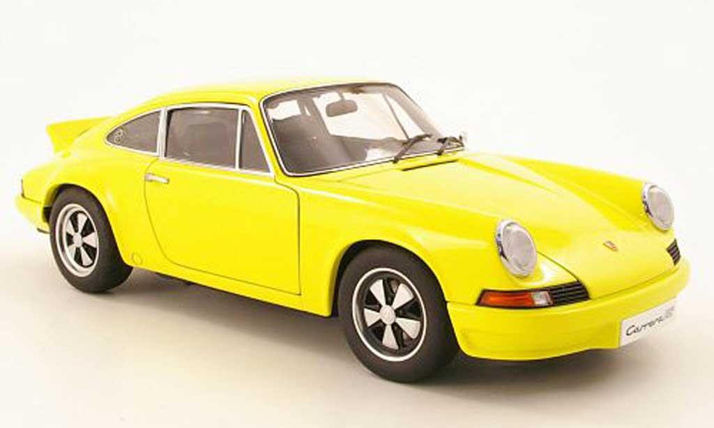 Porsche 911 RS 1/18 Autoart Carrera 27 yellow 1973