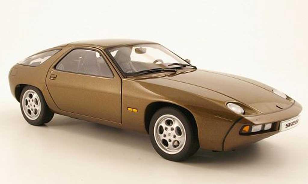 Porsche 928 1977 1/18 Autoart marron diecast model cars