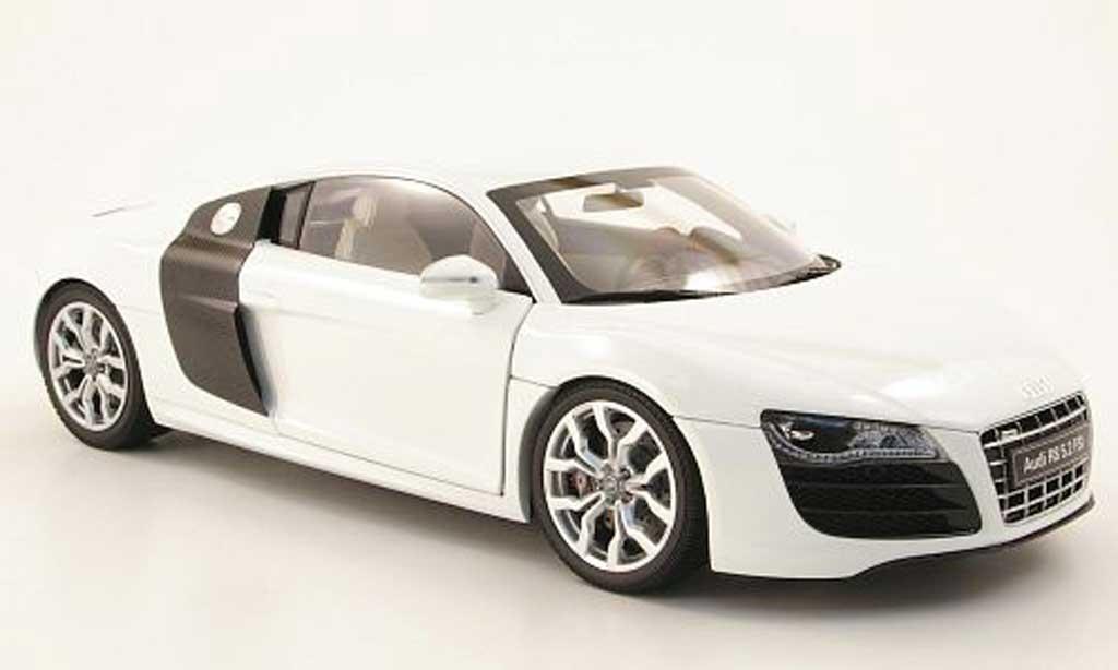 Audi R8 5.2 FSI 1/18 Kyosho v10 blanche 2009 miniature