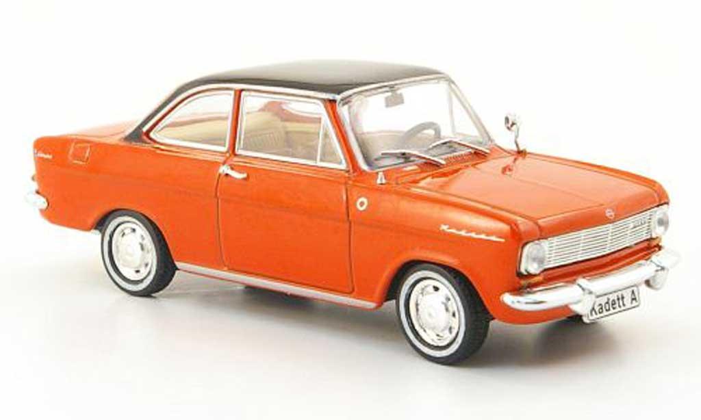 Opel Kadett A 1/43 Hachette Coupe rouge/noire (ohne Magazin) 1962 miniature