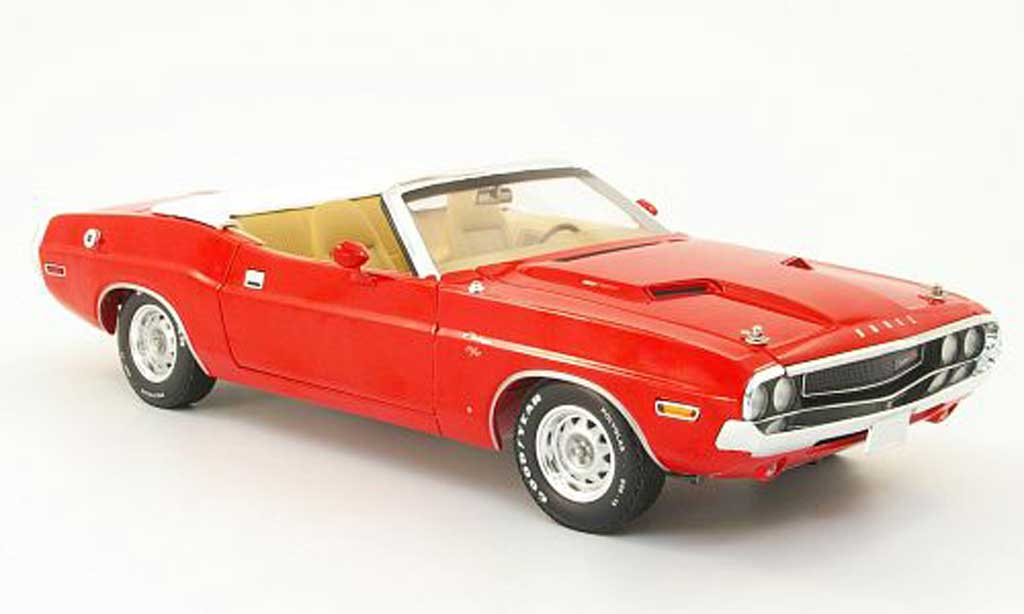 Dodge Challenger 1970 1/18 Greenlight r/t convertible red diecast model cars