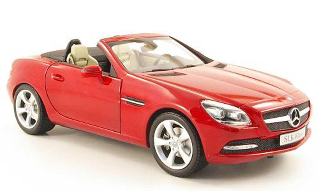 Mercedes Classe SLK 1/18 Minichamps (r172) rouge 2011 miniature