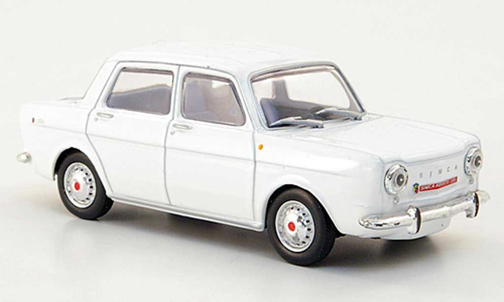 Abarth 1150 1963 1/43 Hachette Simca blanche miniature