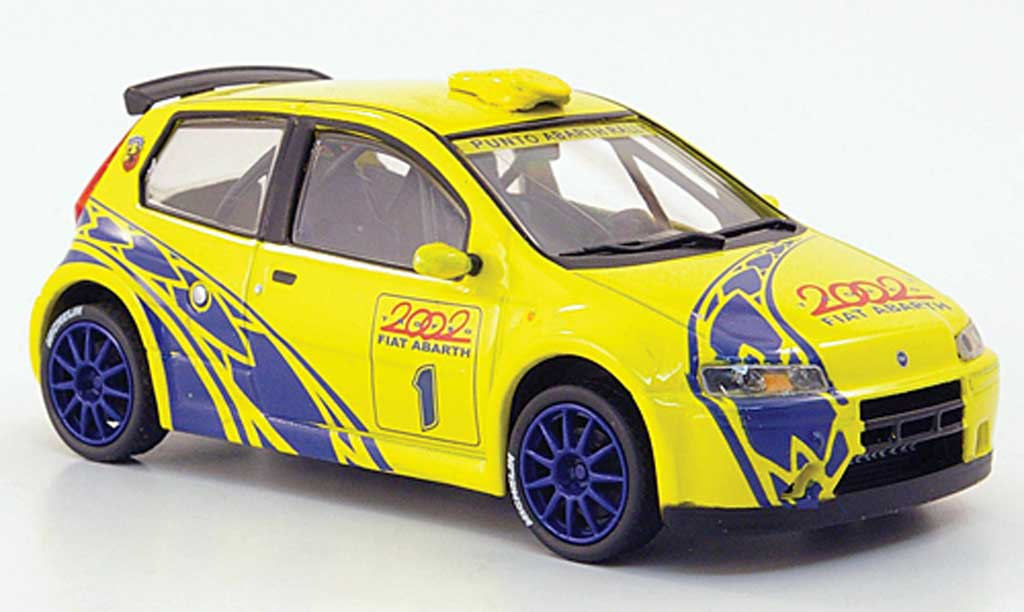 Fiat Punto 1/43 Hachette Abarth Super 1yellow 2002 diecast model cars