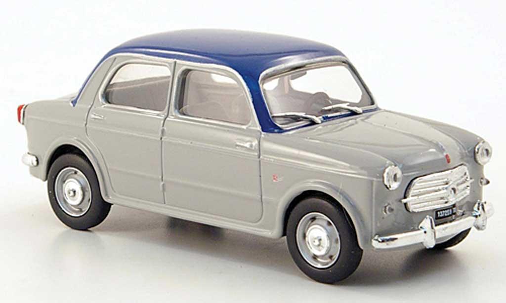 Fiat 1100 1/43 Hachette 103 TV grisebleu 1953 miniature