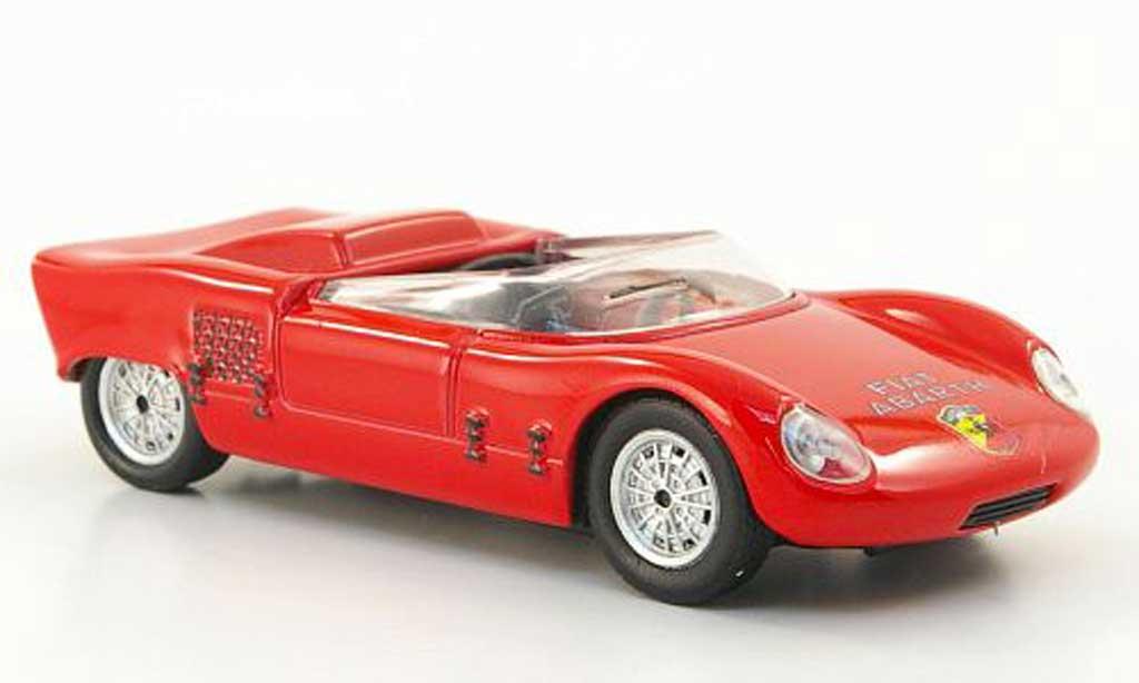 Fiat Abarth 1000 1/43 Hachette Spider Sport red 1963 diecast