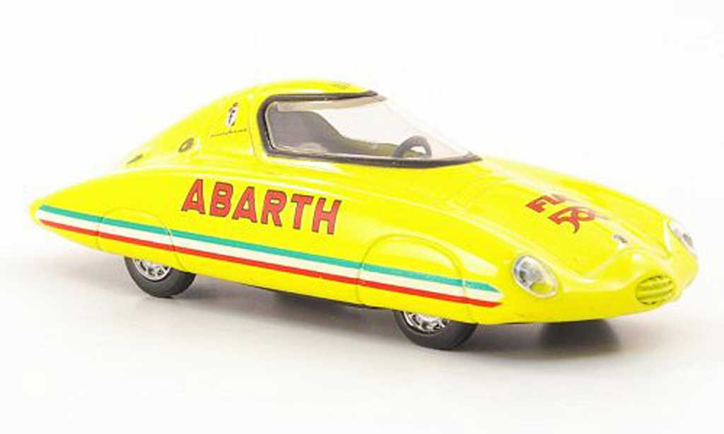 Fiat 500 Abarth 1/43 Hachette Rekordfahrzeug Pinin Farina yellow 1958 diecast model cars