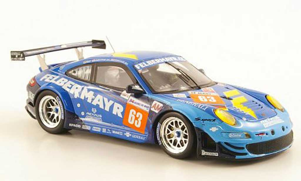 Porsche 997 GT3 RSR 1/43 Spark 2001 No.63 Prougeon Competition 24h Le Mans miniature
