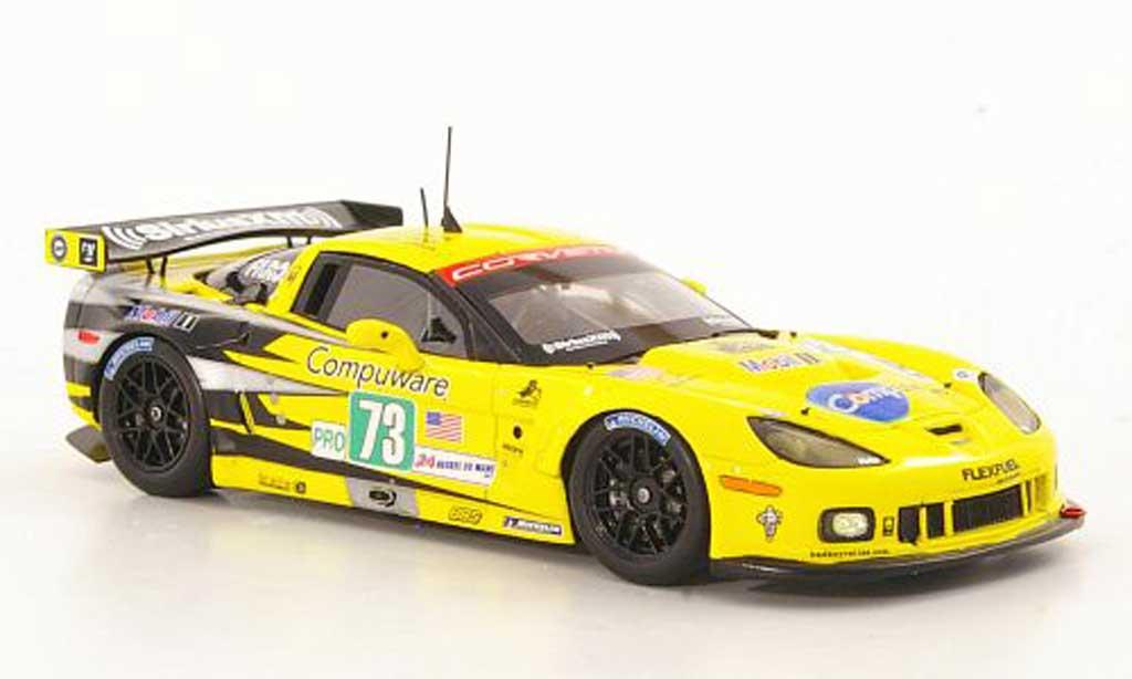 Chevrolet Corvette C6 ZR1 1/43 Spark No.73 Racing O.Beretta / T.Milner / A.Garcia 24h Le Mans 2011 diecast model cars