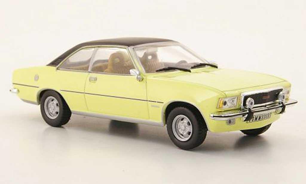 Opel Commodore B 1/43 Hachette Coupe GS/E jaune/noire (ohne Magazin) 1972 miniature